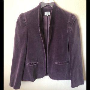 Vintage Women's Purple Velvet Blazer